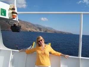 on ferry to Loutro