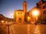 Near the church of Santa Ana, Granada, before dawn has rustled its leaves